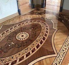 Example Picture of Wood Rug Floor Example, Photos of custom Wood floors, medallions, inlays, borders and parquet. Wood Floor Pattern, Floor Patterns, Refinishing Hardwood Floors, Wooden Flooring, End Grain Flooring, Floor Design, House Design, Parquetry Floor, Wood Shop Projects