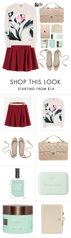 """""""I got to do things my own way, darling."""" by sunshineb ❤ liked on Polyvore featuring Burberry, Chanel, Anese, Rituals, Webster's Pages, Yankee Candle, outfit, skirt, Sheinside and burgundy"""
