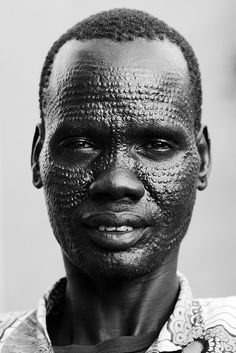 Africa | Portrait of a Nuer man, South Sudan |  © ngari.norway, via Flickr