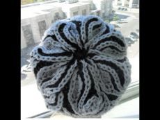 "Берет ""Бриошь"" 2 часть( beret knitting needles in the technique of brioche (Шапка Crochet Humor, Knit Or Crochet, Crochet Stitches, Crochet Mandala, Crochet Afghans, Crochet Blankets, Double Crochet, Knitting Videos, Crochet Videos"