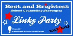 Best and Brightest for Linky Party Middle School Counselor, Elementary School Counseling, School Social Work, Group Counseling, Counseling Activities, Elementary Schools, Student Council, Adhd, Rainbows