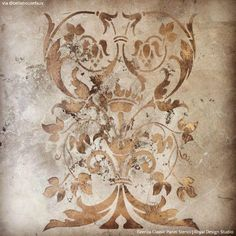 Our Italian design of the Firenze Classic Panel Stencils pattern that is perfectly sized for adding an artisan detail to furniture and cabinet panels and more. Stencil Pattern Size: x Sheet Size: x Layer DesignSKU Italian Home Decor, Italian Interior Design, Rustic Italian, Italian Furniture Design, Classic Italian, Faux Painting, Stencil Painting, Stenciling, Stenciled Floor