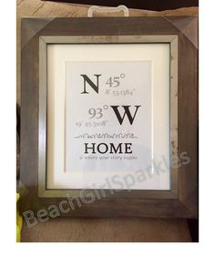 GPS Location Coordinates: Bridal Shower REALTOR Closing Gift, Open House, New Home, Client Gift, ThankYou, Promotion, Give-Away, Real Estate