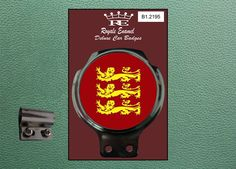 Royale Classic Car Badge & Bar Clip ENGLAND 3 LIONS 1966 B1.2195