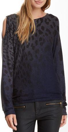 Cutout Shoulder Long Sleeve Sweater