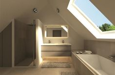 Attic bathroom!