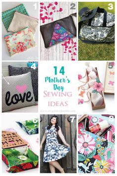 18 Mother's Day Sewing Gift Ideas that she will definitely love! Good Tutorials, Sewing Tutorials, Sewing Patterns, Sewing Ideas, Bag Patterns, Diy Mothers Day Gifts, Gifts For Your Mom, Sewing Courses, Sewing Projects For Kids
