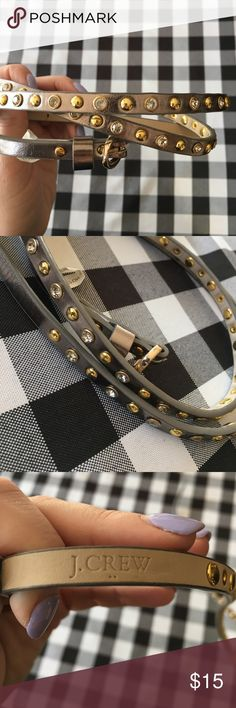 J.Crew Leather Studded Belt - Medium Leather studded belt by J.Crew Factory! No Studs missing. It is in good shape - keep in mind that it is leather so the bumps in the shape now will conform to how you wear it. Size medium! J. Crew Accessories Belts