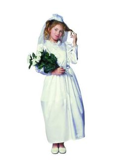Glamour Bride (Standard;Child Small) by RG Costumes. $22.95. Classic Halloween Costume. This Bridal costume includes gown and veil.Size Information: Small Size (4-6) for ages 4-6 Yrs, Medium Size (8-10) for ages 6-8 Yrs, Large Size 12-14 for ages 8 and up.Perfect Bride.