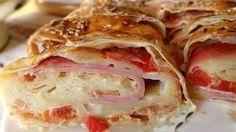 Sonkás-sajtos-paradicsomos rétes - Welcoming Easter: Ham, cheese, tomato pies My Recipes, Gourmet Recipes, Bread Recipes, Cooking Recipes, Favorite Recipes, Burek Recipe, Healthy Snacks, Healthy Recipes, European Cuisine