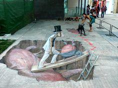 Anamorphic Sidewalk Art