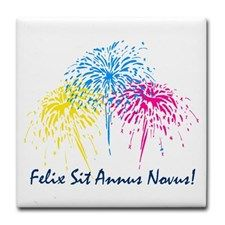 Felix Sit Annus Novus - Happy New Year in Latin New Year 2018, Tile Coasters, Nouvel An, Languages, Happy New Year, Color, Design, Idioms, Colour