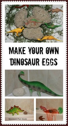 Make your own dinosaur erupting eggs. Using 2 simple ingredients. Fun for all ages