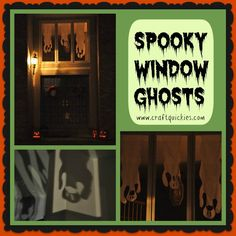 These spooky window ghosts are a super cheap decoration that the whole family can make together!  They have some seriously spooky curb appeal!