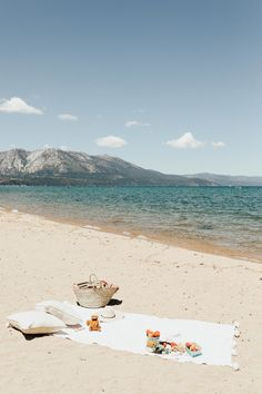 The perfect day in Tahoe... a beach picnic with the bestie.