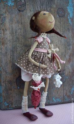 Коллекционные куклы ручной работы. Ярмарка Мастеров - ручная работа Кажется, дождь начинается.... Handmade.