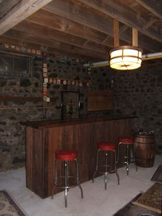 diy basement bar for the man cave