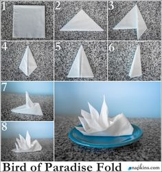 Bird of Paradise Napkin Fold