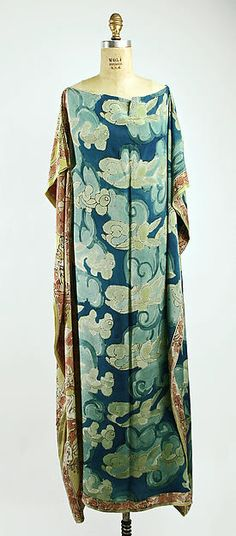 Silk Negligée ca. 1929 Raymond Duncan (American, San Francisco, California 1874-1966 Cavalaire) Culture: French  (hva)