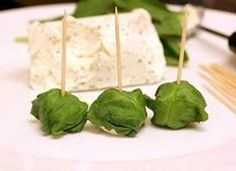 Host a Hunger Games party and serve up these delicious basil-wrapped goat cheese bites, inspired by Prim in the book!  24 Basil Goat Cheese Bites
