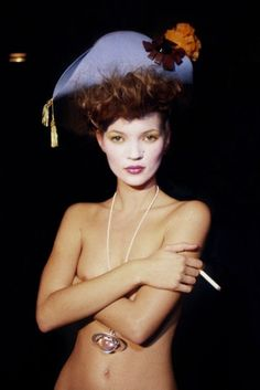 1994 - Vivienne Westwood backstage - Kate Moss By Harry Benson