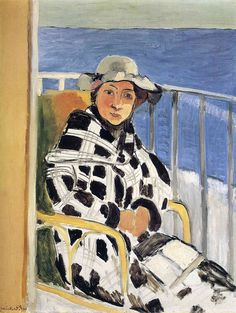 bofransson: Mlle Matisse in a Scottish Plaid Coat Henri Matisse - 1918 Henri Matisse, Matisse Art, Matisse Paintings, Picasso Paintings, Monet, Post Impressionism, Art Moderne, Art Graphique, Figure Painting