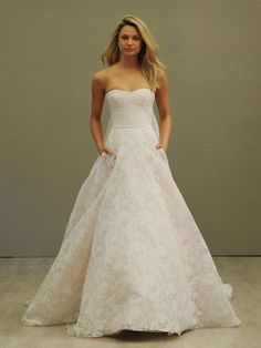 Jim Hjelm ivory blush Tuileries organza wedding dress from Spring 2016