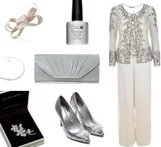 6 Sensational Mother of the Bride Dresses for A/W - Gina Bacconi Mother of the Bride Silver Trouser Suit