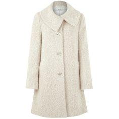 Kaliko Boucle Coat, Neutral found on Polyvore