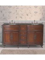 The Hayes Double Sink Vanity is an elegant centerpiece for a sophisticated bathroom. It features beautiful detailing on the drawers and cabinet doors. Double Sink Vanity, Vanity Sink, Country Bathroom Vanities, Warm Bathroom, Elegant Centerpieces, Wood Vanity, Vintage Vanity, High Quality Furniture, How To Antique Wood