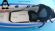 Air Mat Floor Premium Fishing Kayaks-inflatable PVC material