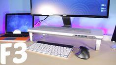 Satechi サテチ F3 スマート モニタースタンド (USB3.0ポートx4、ヘッドホン/マイク端子付き) 購入はこちら!http://goo.gl/xELnLV