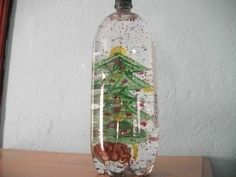 Preschool Crafts for Kids*: Easy Christmas Snow Globe Bottle Craft. We make these every year only with smaller bottles so the children can handle then. A 2 liter bottle is pretty big.