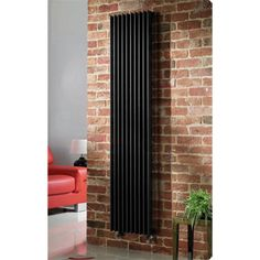 Tall radiator to replace old one that can fit along the wall and doesn't cut down on too much wall space for lower cupboards. Quinn Adagio Single Column Radiator - Vertical - Black - 6 x Size Options Tall Radiators, Black Radiators, Vertical Radiators, Column Radiators, Kitchen Radiator, Decorative Radiators, Interior Design Your Home, Open Plan Kitchen Diner, Designer Radiator