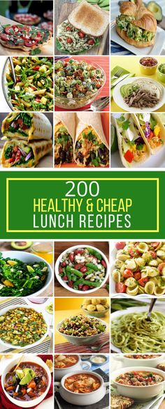 200 Healthy & Cheap Lunch Recipes