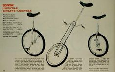 This is the advert for the first unicycles I ever owned.