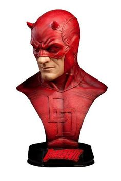 "Marvell Daredevil Life Size Bust by Sideshow. $674.99. Molding costume that reproduces the texture from ""Marvell"". Molding costume that reproduces the texture from ""Marvell"" Life Size Bust series by Sideshow, such as can be seen until the swell of muscles such as the shoulder and facial expression! Appeared Daredevil ""Crime Fighter of the blind"", initials ""DD"" of Daredevil gradient, such as paint (shadow) is beautiful motif and logo, red and black, complete unique l..."