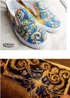 Doctor Who/Tardis shoes!