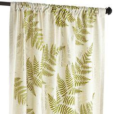 """Flocked Fern Curtain - 84"""""""