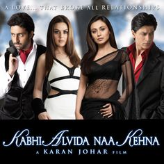 Can't believe it's been 10 yrs since the release of KANK. Such a memorable film for me and very important too. I remember sittin Bollywood Stars, Bollywood Poster, Bollywood Movies Online, Hindi Movies Online, Srk Movies, Movies 2014, Kabhi Alvida Naa Kehna, Shah Rukh Khan Movies, Shahrukh Khan