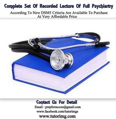 Complete set of recorded lectures of full psychiatry according to new criteria are available to purchase at very affordable price,Inbox us for details. Psychiatry, Online Courses, Cufflinks, Detail, Accessories, Reading, Psych