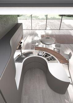 Top 25 Futuristic Kitchen Designs | Futuristic, Kitchen design and ...