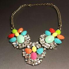 "Spotted while shopping on Poshmark: ""NEW! Colorful crystal bib statement necklace""! #poshmark #fashion #shopping #style #Jewelry"