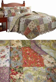 Quilts Bedspreads and Coverlets 175749: Queen Size Quilt Bedding Set 3 Pc Reversible Patchwork 100% Cotton Oversized New -> BUY IT NOW ONLY: $67.29 on eBay!