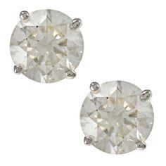 Auriya 18K Gold 1ct TDW Clarity-Enhanced Round Diamond Stud Earrings (E-F, G, H-I, J-K / VS1-VS2, SI1-SI2, I1-I2, I3) (E-F, I1-I2 - White Gold), Women's, Size: Small