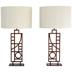 Pair of Post Modern Table Lamps by Sonneman 1