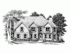 2 story, 3194 square foot, ready-to-build house plan from BuilderHousePlans.com