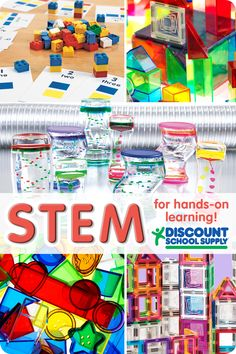 Save on STEM products only at Discount School Supply! Fall Preschool, Preschool Learning Activities, Preschool Education, Preschool Science, Preschool Lessons, Toddler Learning, Preschool Crafts, Toddler Activities, Preschool Activities