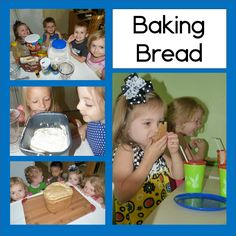 Baking bread with preschoolers for the letter B