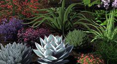 An assortment of 3D plants...#3Dlandscapedesign